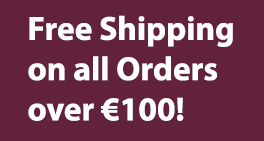 free discreet shipping on all orders over €100