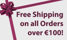 free shipping on all orders over €100