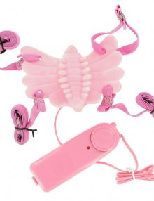 Butterfly Massager Strap-on Vibrator Pink