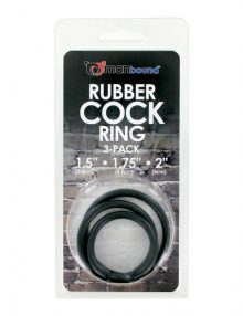 Manbound - Rubber Cock Ring 3-pack