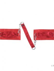 Lelo - Sutra Chainlink Cuffs Red
