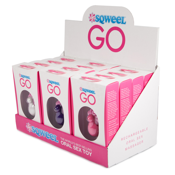 Sqweel - Go Oral Sex Toy Counter Display