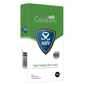 Safe - Caring Condoms Aloe Vera 10 pcs