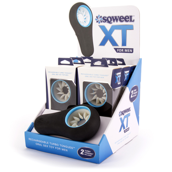 Sqweel - XT Oral Sex Toy for Men Counter Display