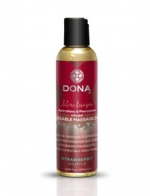 Dona - Kissable Massage Oil Strawberry Soufflé 110 ml