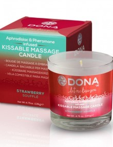 Dona - Kissable Massage Candle Strawberry Soufflé