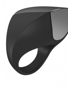 Ovo - A1 Rechargeable Ring Black & Chrome