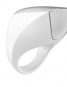 Ovo - A1 Rechargeable Ring White & Chrome