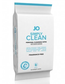 System JO - Wipes Simply Clean Fragrance Free 30 Pack