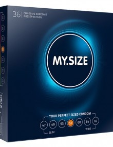 My Size - Natural Latex Condom 57 Width 36 pieces