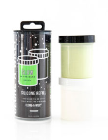 Clone-A-Willy - Refill Glow in the Dark Green Silicone