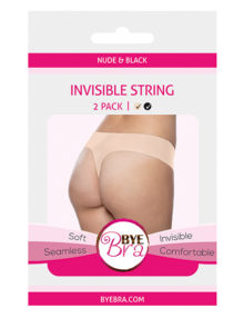 Bye Bra - Invisible String (Nude & Black 2-Pack) S