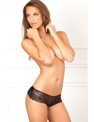 Cross Loos lace panties with large satin bow